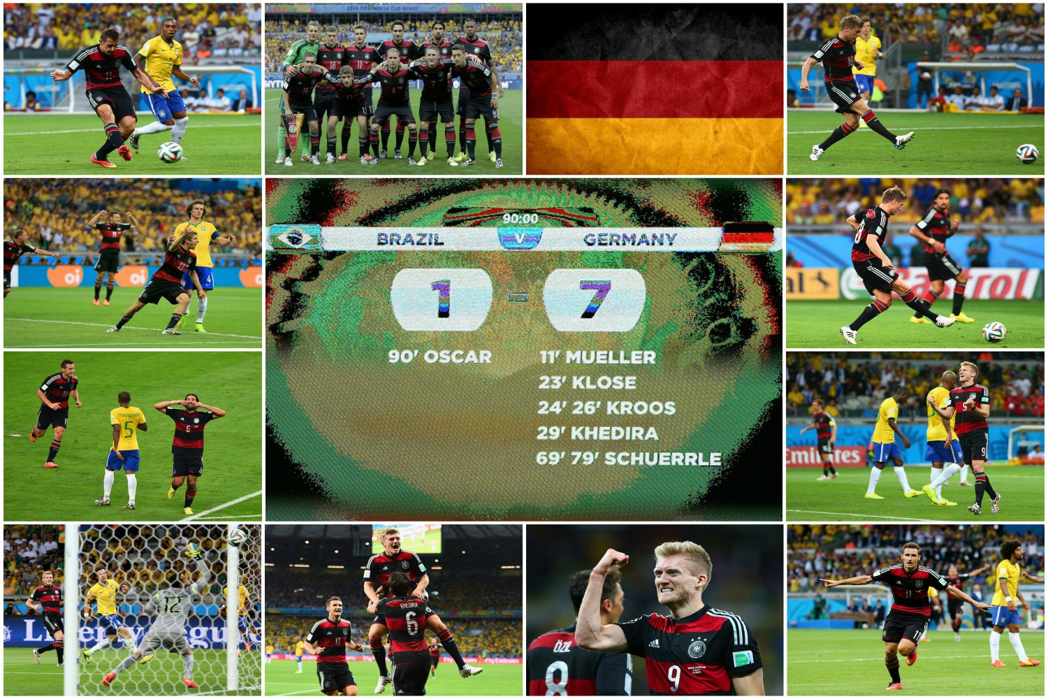 18 x 12 Photo - Football - FIFA World Cup - Collage of The 7-1 Germany win against Brazil