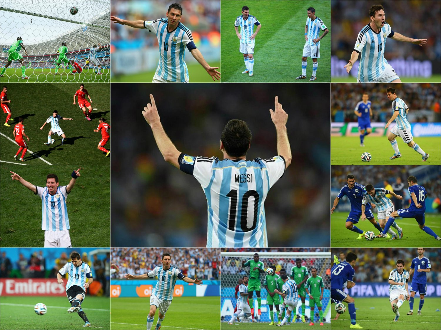 40 x 30 Photo - Football - FIFA World Cup 2014 - Lionel Messi Collage