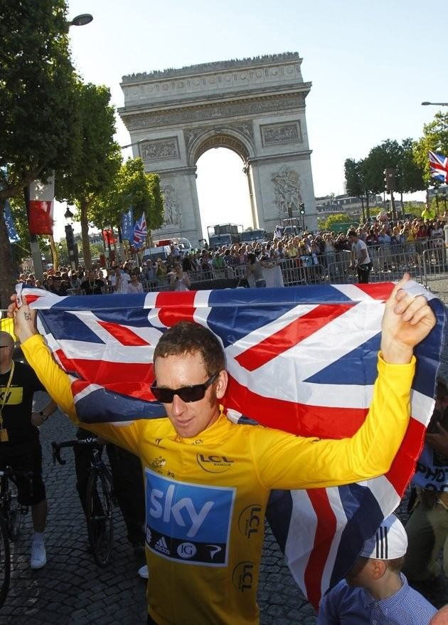 001 - 8 x 6 Photo - Tour de France 2012 - Bradley Wiggins