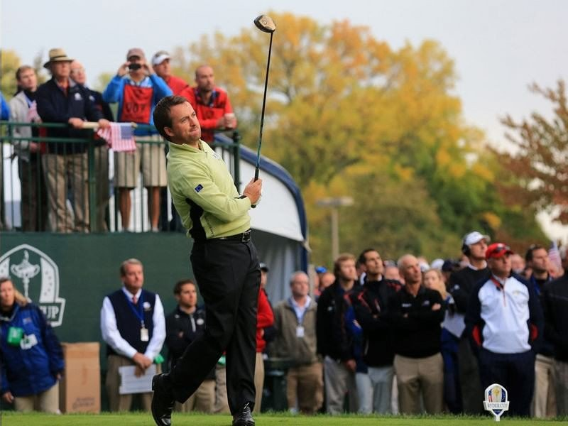 011 - 8 X 6 Photo - Ryder Cup 2012 - Graeme McDowell 1st Shot 1st Tee Day 1