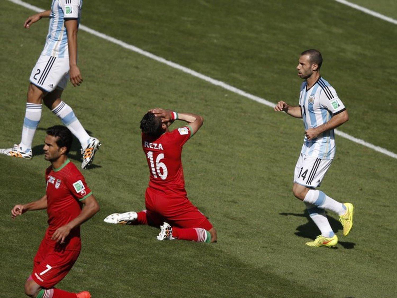 120 - 8 X 6 Photo - Football - FIFA World Cup 2014 - Argentina V Iran - Reza Ghoochannejhad