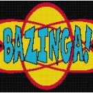 THE BIG BANG THEORY BAZINGA CROSS STITCH PATTERN