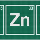 THE BIG BANG THEORY BAZINGA PERIODIC TABLE CROSS STITCH PATTERN