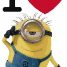 DESPICABLE ME I LOVE MINIONS CROSS STITCH PATTERN
