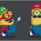 DESPICABLE ME MINIONS SUPER MARIO BROTHERS CROSS STITCH PATTERN