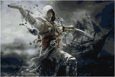 ASSASSIN'S CREED BLACK FLAG #1 CROSS STITCH PATTERN