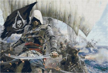 ASSASSIN'S CREED BLACK FLAG #3  CROSS STITCH PATTERN