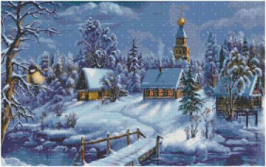 CHRISTMAS TOWN CROSS STITCH PATTERN PDF ONLY