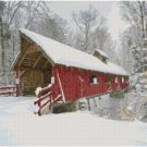 RED COVERED BRIDGE CROSS STITCH PATTERN PDF ONLY