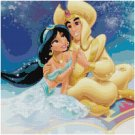 DISNEY ALADDIN AND JASMINE #1 CROSS STITCH PATTERN PDF ONLY