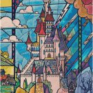 DISNEY BEAUTY AND THE BEAST STAINED GLASS CASTLE CROSS STITCH PATTERN PDF ONLY