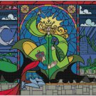 DISNEY BEAUTY AND THE BEAST STAINED GLASS PRINCE CROSS STITCH PATTERN PDF ONLY