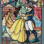 DISNEY BEAUTY AND THE BEAST STAINED GLASS CROSS STITCH PATTERN PDF ONLY
