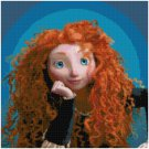 DISNEY BRAVE MERIDA PORTRAIT CROSS STITCH PATTERN PDF ONLY