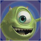 DISNEY MONSTERS INC MIKE CROSS STITCH PATTERN PDF ONLY