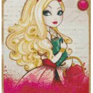 EVER AFTER HIGH APPLE WHITE #1  CROSS STITCH PATTERN PDF ONLY