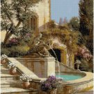 COURTYARD FOUNTAIN - GARDEN CROSS STITCH PATTERN PDF ONLY