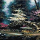 DOGWOOD AND WATERLILIES - GARDEN CROSS STITCH PATTERN PDF ONLY