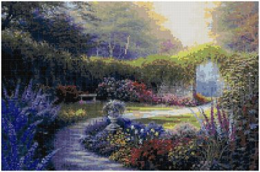 DOWN THE GARDEN PATH - GARDEN CROSS STITCH PATTERN PDF ONLY