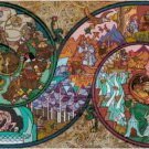 HOBBIT STAINED GLASS CROSS STITCH PATTERN PDF ONLY