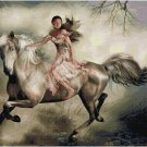 WOMAN ON A HORSE CROSS STITCH PATTERN PDF ONLY