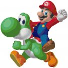 SUPER MARIO BROS MARIO AND YOSHI  CROSS STITCH PATTERN PDF ONLY