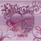 BUTTERFLY HEARTS CROSS STITCH PATTERN PDF ONLY