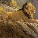 LION ON A ROCK CROSS STITCH PATTERN PDF ONLY
