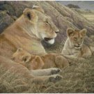 LIONESS AND CUBS CROSS STITCH PATTERN PDF ONLY