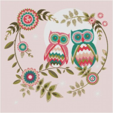 OWLS IN LOVE #2 STITCH PATTERN PDF ONLY