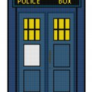 DR WHO TARDIS CROSS STITCH PATTERN PDF ONLY