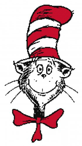 DR SEUSS CAT IN THE HAT CROSS STITCH PATTERN PDF ONLY