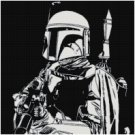 STAR WARS BOBA FETT #2 CROSS STITCH PATTERN PDF ONLY