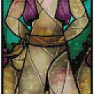 DISNEY ALADDIN STAINED GLASS  CROSS STITCH PATTERN PDF ONLY