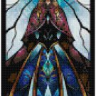 DISNEY ANNA STAINED GLASS  CROSS STITCH PATTERN PDF ONLY