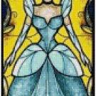DISNEY CINDERELLA STAINED GLASS  CROSS STITCH PATTERN PDF ONLY