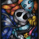 DISNEY JACK AND SALLY NIGHTMARE BEFORE CHRISTMAS STAINED GLASS  CROSS STITCH PATTERN PDF ONLY