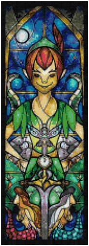 DISNEY PETER PAN STAINED GLASS  CROSS STITCH PATTERN PDF ONLY
