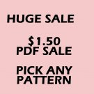 PDF SALE 1 PATTERN $1.50 YOU PICK THE PATTERN CROSS STITCH PATTERN PDF ONLY