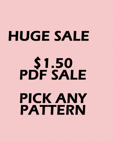 PDF SALE 1 PATTERN $1.50 YOU PICK THE PATTERN CROSS STITCH PATTERN PDF ONLY
