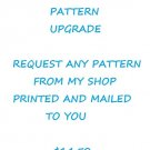 PRINTED PATTERN UPGRADE CROSS STITCH PATTERN PAPER PATTERN MAILED TO YOU