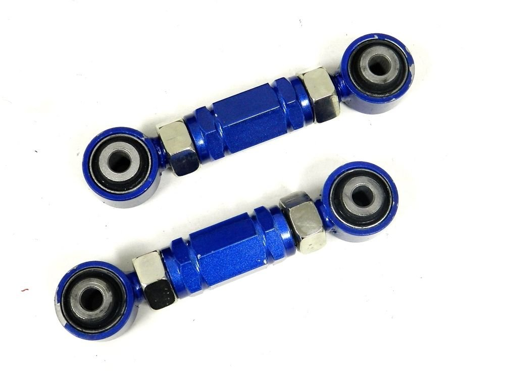 BLUE RACING REAR ADJUSTABLE TOE ROD ARMS KIT FOR 88-00 CIVIC / 94-01 INTEGRA