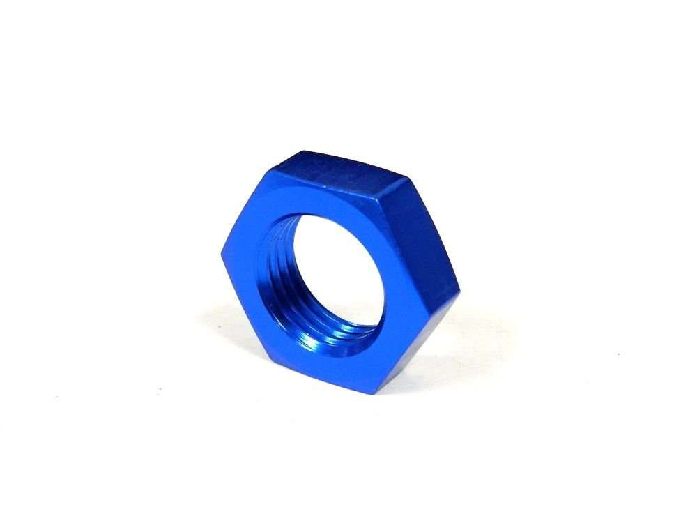 UNIVERSAL ALUMINUM -16 AN16 16AN BULKHEAD NUT FITTING BLUE