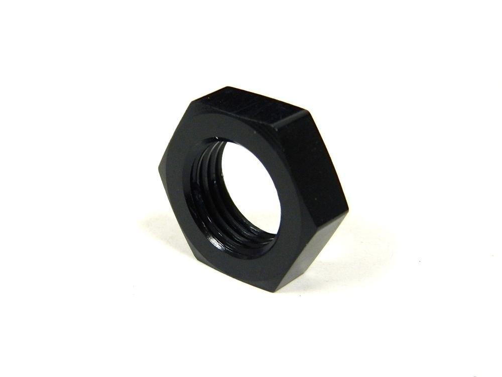 UNIVERSAL ALUMINUM -10 AN10 10AN BULKHEAD NUT FITTING BLACK