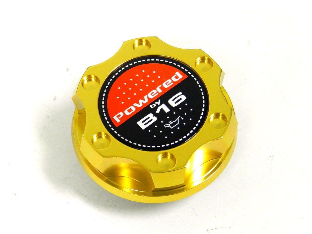 GOLD BILLET CNC RACING ENGINE OIL FILLER CAP HONDA CIVIC DEL SOL CRX B16