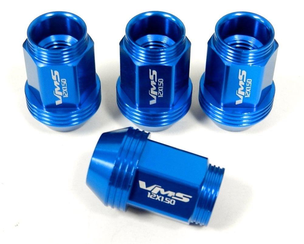 """20PC 36MM 1.40"""" STANDARD LENGTH ALUMINUM LUG NUTS BLUE CORVETTE C4 C5 C6"""