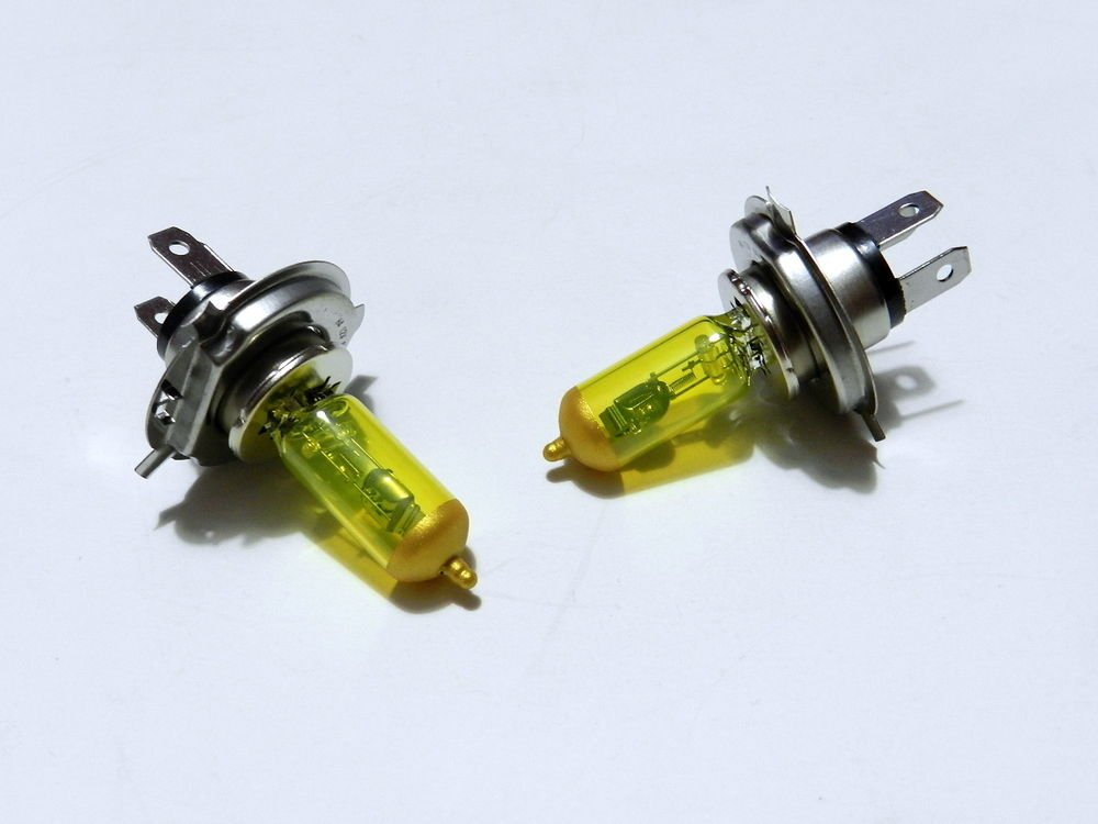 YELLOW - X2 H13 9008 HIGH PERFORMANCE XENON HEADLIGHT BULBS