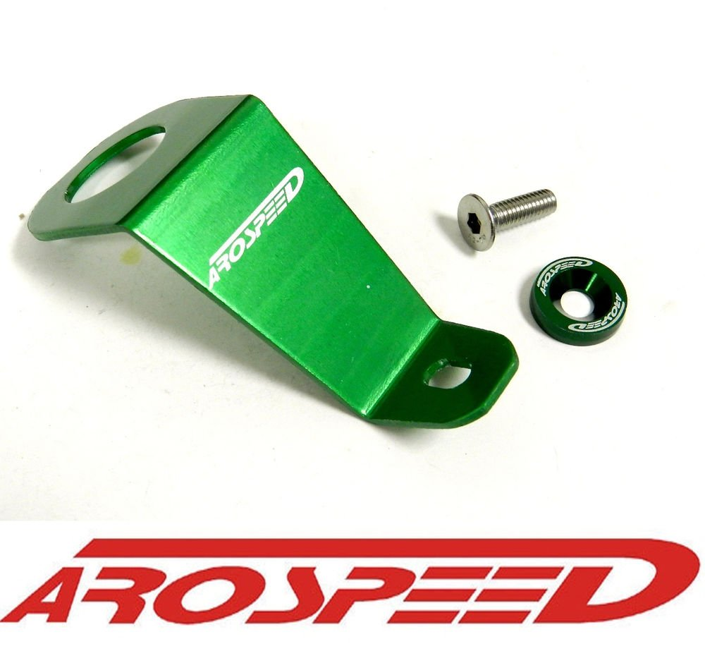 AROSPEED GREEN CNC BILLET ALUMINUM RACING RADIATOR STAY BRACKET KIT EG EG6