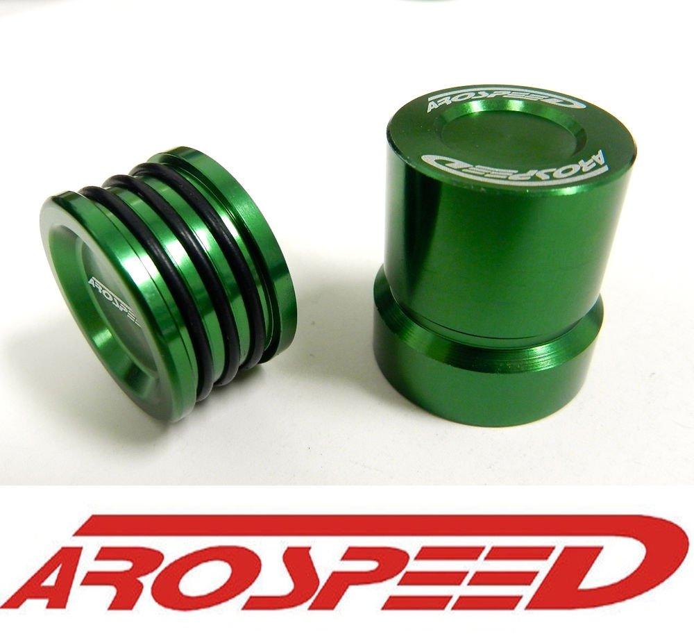AROSPEED GREEN OBD0 JDM VTEC SOLENOID COVER & CAM SEAL COMBO B16 B16A