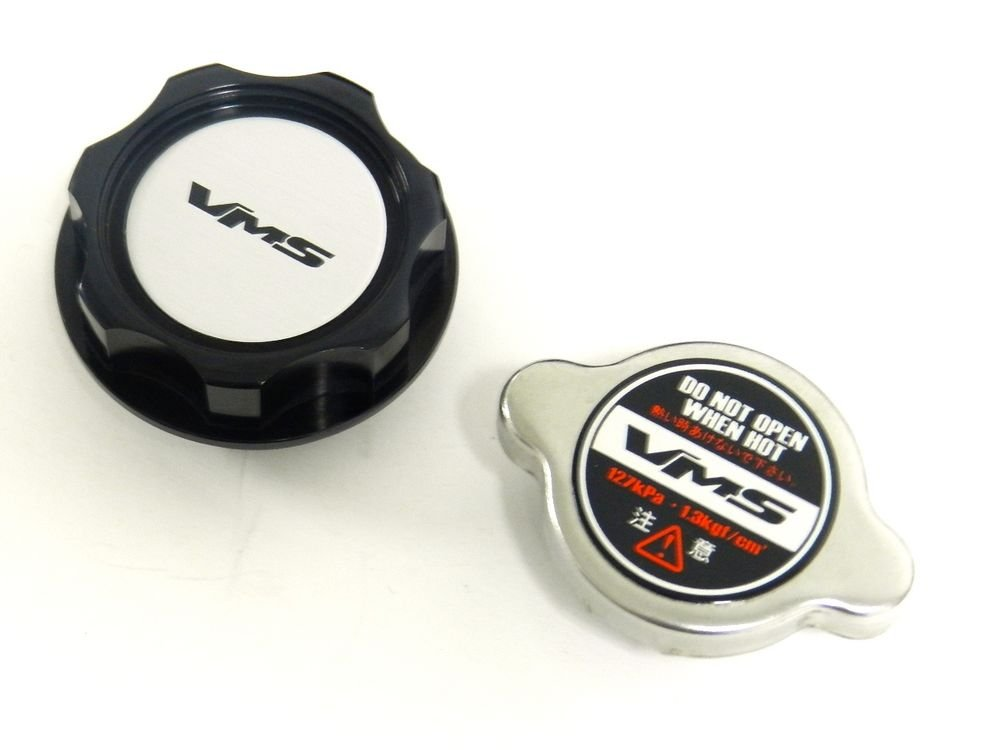 VMS RACING BLACK OIL CAP + RACING RADIATOR CAP HONDA ACURA S